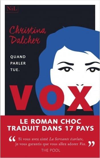Vox De Christina Dalcher – éd. Nil