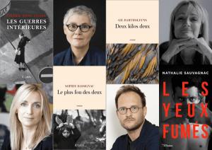 damier de livres et d'auteurs des éditions JC Lattès
