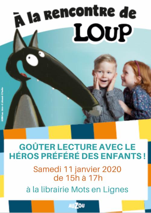 Rencontrez Loup Samedi 11 Janvier 2020 à La Librairie Mots En Lignes à Courbevoie