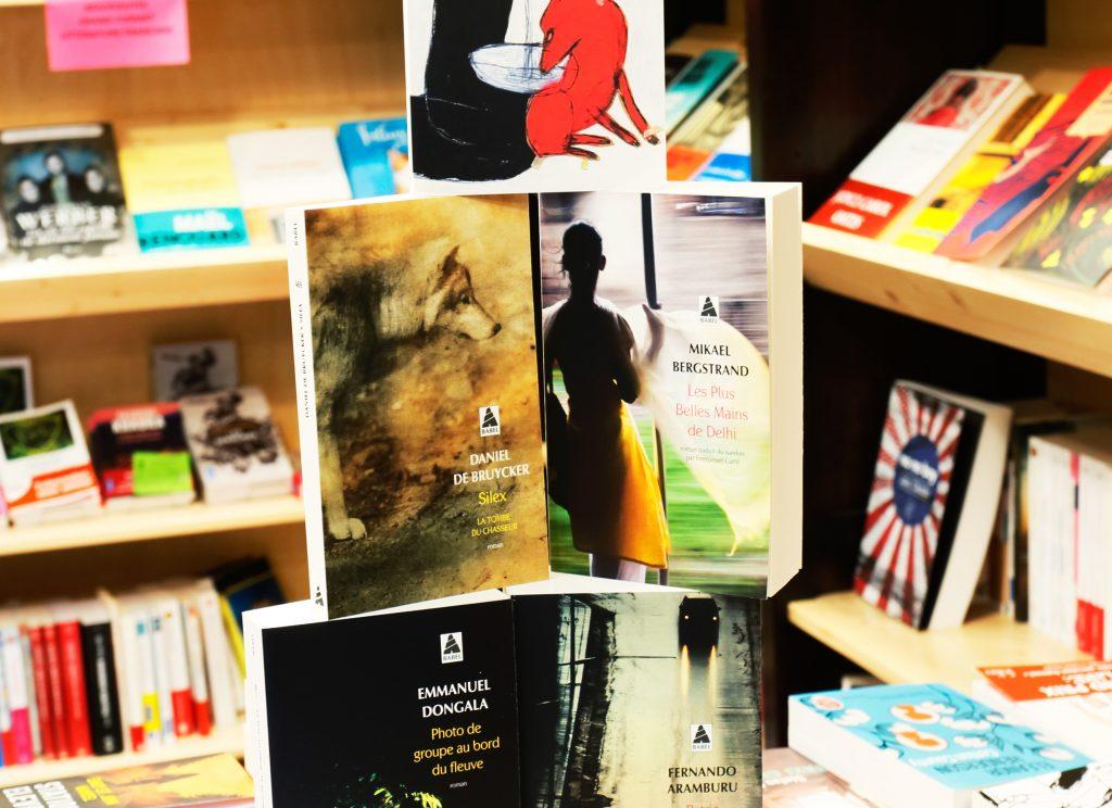 Livres sélectionnés pour le prix Babel des lecteurs de la librairie